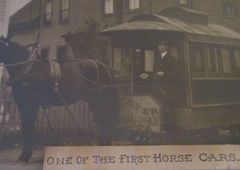 Oversized Gloucester Street Railway Photograph Of One Of The First Horse Cars