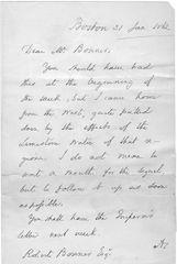 Gettysburg Speech, Vice Presidential Candidate, MA Gov. Edward Everett Writes To Robert Bonner