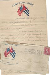Spanish-American War Soldier Camp Cuba Libre; Very Fine Florida Postmark