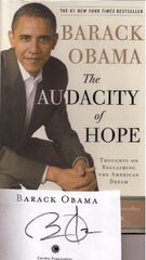 Barack Obama's Audacity of Hope -- Autographed