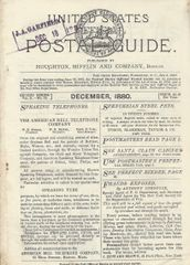 President Garfield's Postal Guide, Apparently Used by Him in the White House