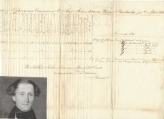 Naval Commander Voorhees Signs USS John Adams Military Document; Additional Letter