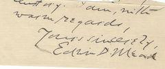 Edwin Doak Mead, Progressive Era, Men's Woman's Suffrage -- Autograph