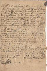 South Carolina, Alabama 19th Century Documents Involve Large Land Owner, General, Colonel