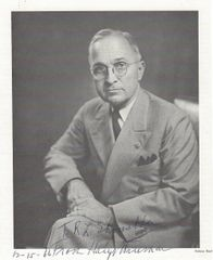 America's 33rd President, Harry Truman, Inscribes Print of Bachrach's Photograph