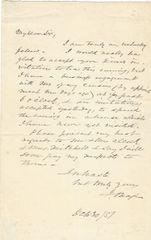 Boston Portrait Artist John Neagle Declines Invitation And Autograph Of His Subject Patrick Lyon