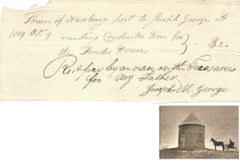 Early MA Documents Include One for Powder House Military Storage, Autograph of Influential Federalist
