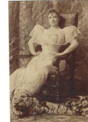 Actress, Abolitionist Lillian Russell; Leading Shakespearean Actress Ellen Terry -- Two Photographs