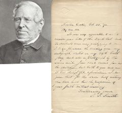 """""""My Country, 'Tis of Thee"""" Author Samuel Francis Smith Offers Autograph, Photograph"""