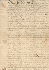 William Till, Philadelphia Colonial Mayor, Signs 1746 Spinster Deed; His Daughter Married Two Signers Of The Declaration Of Independence