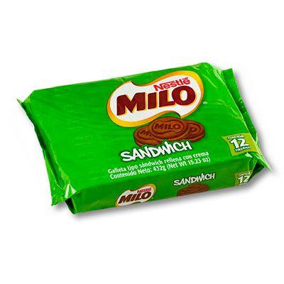 Milo Sandwich x 12 Unidades 437g