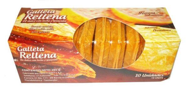 Galleta Rellena de Dulce de Leche y Guayaba Tropi Sweet