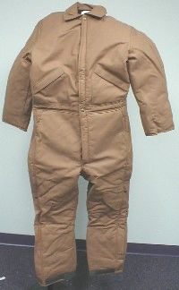 2308001BRN INSULATED BROWN DUCK COVERALL
