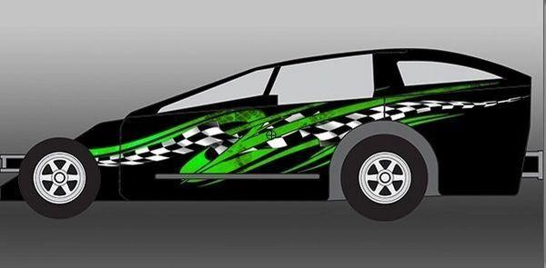Draft Go Kart Golf Cart Race Car Half Wrap Vinyl Graphic Decal ... on custom golf cart body wraps, yamaha golf cart graphic wraps, golf cart graphic kits,