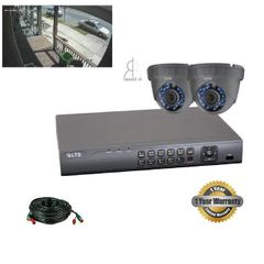 Two 1.3MP Security Camera Bundle W/ Installation