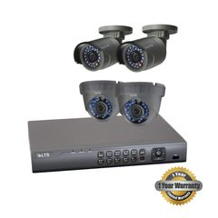 Four 1.3MP Security Camera Bundle W/ Installation