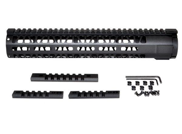 M Lok Style Free Float Aluminum Handguard For Ar 223 Rifle Length