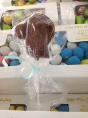 Chocolate Baseball Cap and Ball Lollipop