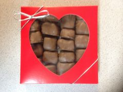Peanut Butter Sponge Candy Valentines