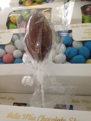 Chocolate Football Lollipop