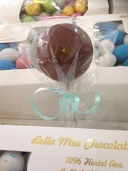 Chocolate Soccer Ball Lollipop