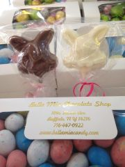 Chocolate Happy Bunny Lollipop