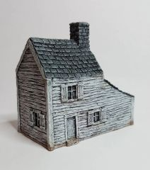 (CL) Clapboard Farmhouse with Carriage Shed.