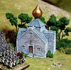 10mm Russian Timber Church (ready painted)