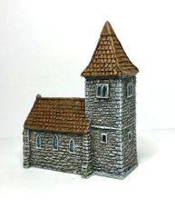 (6mm) European Church with Spire (P6B026)