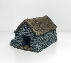 (Ready Painted) 10mm Thatched Cattle Byre