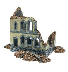 (20mm) Ready Painted Townhouse Ruin #2