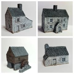 (10mm) 4 - Piece ACW / AWI Buildings Set