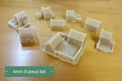 8 Piece European Buildings Set