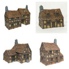(SOLD) 5 - Piece 10mm Timber Framed Buildings Set
