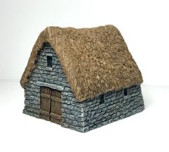 (SOLD) 10mm Thatched Stone Barn