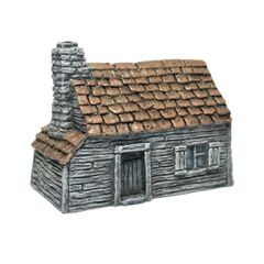 (10mm) Tiled Timber-clad Cottage (10B002)