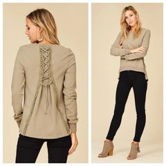 Back Tie-Up Sweatshirt