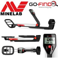 "Minelab GO-FIND 20 Metal Detector with 8"" Waterproof Search Coil"