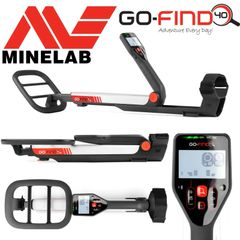 "Minelab GO-FIND 40 Metal Detector with 10"" Waterproof Search Coil"
