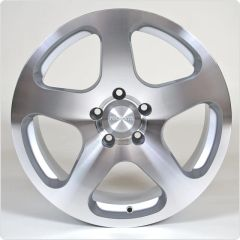 "18"" Staggared Authentic Rotiform NUE Silver with machined - 5x100"