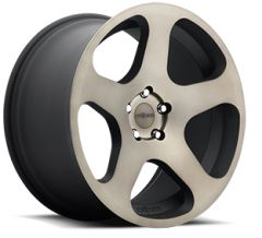 "18"" Staggared Authentic Rotiform NUE Black with DDT machined - 5x100"