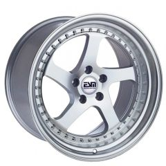 "Set of Four 18""x9.5"" ESM-011 - 5x100 - Silver/Machined"