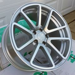 Set of Four 18x9.5 Rotiform SPF - Silver/Machined - 5x100 - ET25