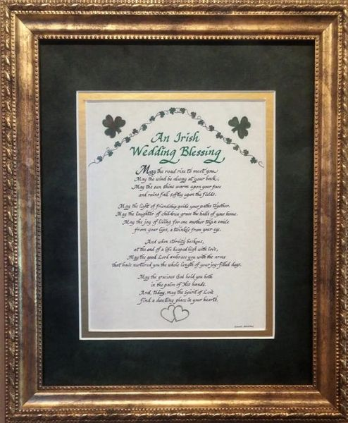 An Irish Wedding Blessing Picture Calligraphy Prayer for Bride an ...