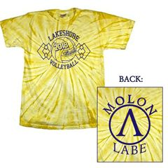YELLOW TIE-DYE TEAM T-SHIRT