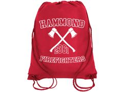Red Drawstring Bag #8882
