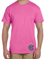Short Sleeve Unisex Crew with Monogram
