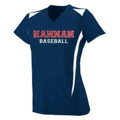 Hannan Navy Baseball Fan Jersey - Glitter