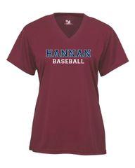 Hannan Crimson Baseball Fan Jersey - Glitter