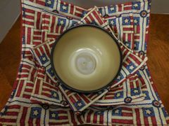 Microwaveable Bowl - Patriotic patches